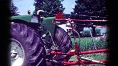 1954: john deere tractor and plowing component OHIO Stock Footage