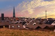 Residential area in Heligoland Stock Photos