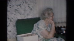 1954: family celebration at the house OHIO Stock Footage