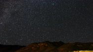The Milky Way and fast clouds. Panorama. TimeLapse Stock Footage