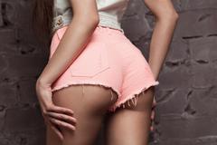 Sexy woman's sport buttocks Stock Photos