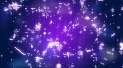 Abstract snowflake Christmas festival background with blue tone Stock Footage