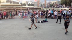 Street performers in Barcelona - Spain Stock Footage
