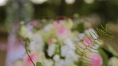 Beautiful bouquet design wedding Stock Footage