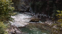 Mountain river. Blue Water. Color correction Stock Footage