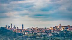View of Bergamo Alta Stock Photos
