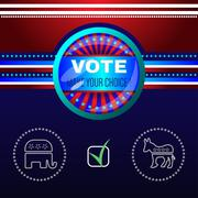 Digital vector usa election with make your choise Stock Illustration