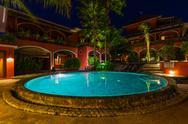 Pool in hotel on island Bali Indonesia Stock Photos
