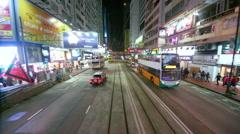 YEE WO STREET CAUSEWAY BAY HONG KONG CHINA Stock Footage