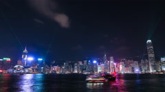 4k Time-lapse of Hong Kong Symphony of Lights Stock Footage