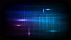 Tech glowing neon video animation Stock Footage