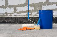 Tools for waterproofing. Stock Photos