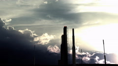 Rocket launch pad on sunset Stock Footage