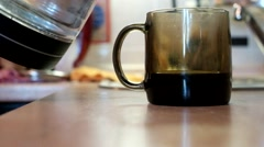 Brewing tea in the Cup Stock Footage