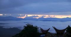 Timelapse at Lolai, Nort Toraja, Indonesia. Stock Footage