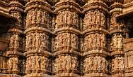 Famous sculptures of Khajuraho temples, India Stock Photos