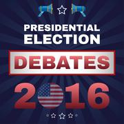 Digital vector usa election with presidential Stock Illustration