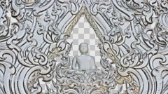 Wat Rong Khun. Buddha. White Temple. Buddhist temple. Chiang Rai. Color pencil. Stock Footage