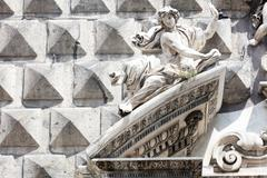 Ashlar  in Historical center of Naples Stock Photos
