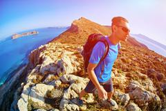 Traveler with backpack Stock Photos
