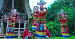 Sanda Oni, Toraja Traditional Dance Stock Footage