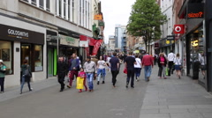 Nottingham Clumber Street Shopping Stock Footage