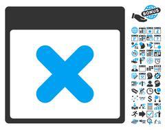 Cancel Calendar Page Flat Vector Icon With Bonus Stock Illustration