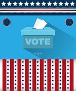 Digital vector usa presidential election 2016 Stock Illustration