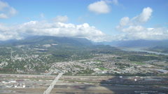 Vancouver from the Sky - Helicopter Footage - Fraser Valley Stock Footage