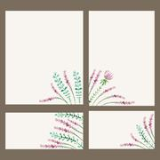 Vector watercolor floral banner. Hand draw herbal border Stock Illustration