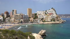 Benidorm in a summer day Stock Footage