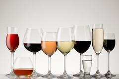 Collection of Stemware Stock Photos