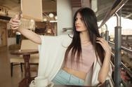 Beautiful woman indoor portrait Stock Photos
