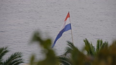 Croatian national flag Stock Footage