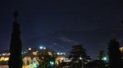 City under the stars Stock Footage