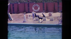 1962: seals are in the sea world SAN PEDRO, CALIFORNIA Stock Footage