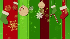 Christmas Bg Red Loopable Background Stock Footage