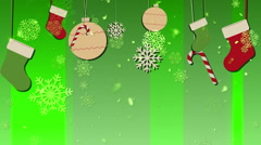Christmas Bg Green Loopable Background Stock Footage