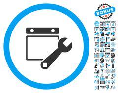Date Setup Flat Vector Icon With Bonus Stock Illustration