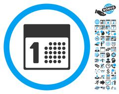 First Day Flat Vector Icon With Bonus Stock Illustration