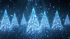 Christmas Glitters Blue  Loopable Background Stock Footage