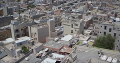 Middle East City Rooftops Stock Footage