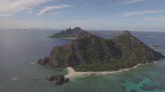 Lau Group islands Fiji Aerial shot with Drone Beautifull Tropical island Reef Stock Footage