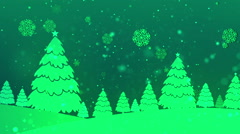 Christmas Retro Green Loopable Background Stock Footage