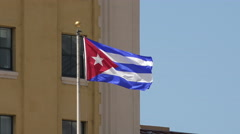 National flag of Republic of Cuba blowing in the wind 4K Stock Footage