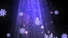 Heavenly Christmas Snowflakes Blue Loopable Background Stock Footage