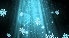 Heavenly Christmas Snowflakes Cyan Loopable Background Stock Footage