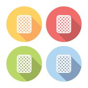 Cookie Sweet Snack Flat Icons Set Stock Illustration