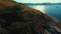 Aerial view. Road to the beach. Nai Harn. Phuket. Thailand Stock Footage
