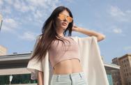 Summer vacation. Beautiful fashion girl Stock Photos